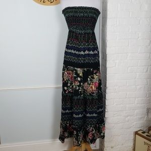 Xhilaration Boho strapless maxi dress